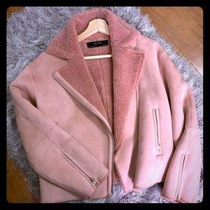 Brand new suede affect jacket!
